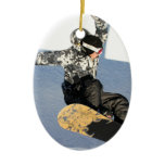 Snowboard Launch Ornament