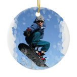 Snowboarder in the Snow Ornament