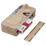 Snowboarding Cribbage Board