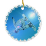 Snowboarding Tricks Picture Ornament